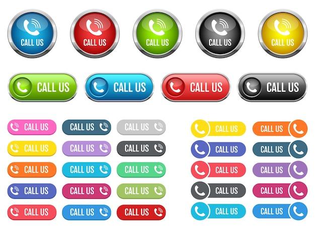 Zadzwoń do nas przycisk ilustracja na białym tle