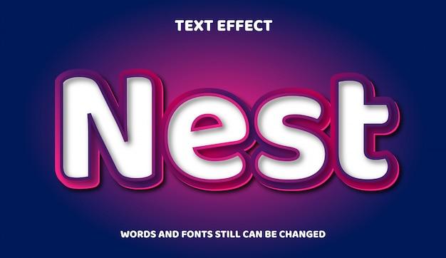 Zagnieżdż nowoczesny tekst edytowalny z efektem świetlnym