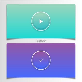 Zagraj i kliknij przycisk, aby zmienić kolor gradientu
