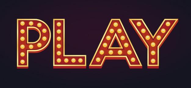 Zagraj transparent alfabet znak markiza żarówka vintage