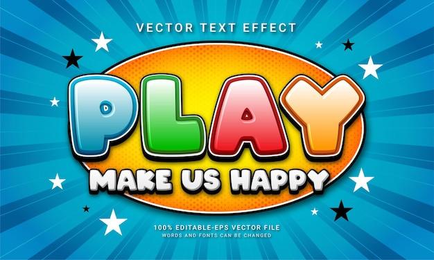 Zagraj w efekt stylu tekstu 3d o tematyce kreskówkowej