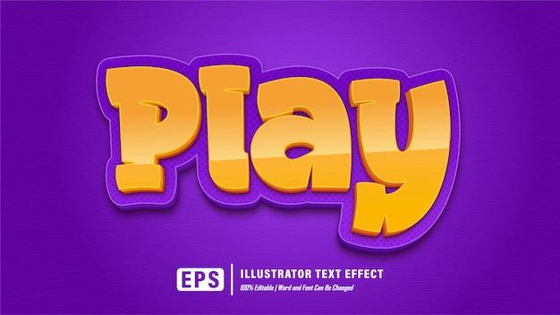 Zagraj w efekt tekstowy gry - edytowalny
