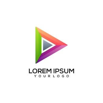Zagraj w kolorową ilustrację logo