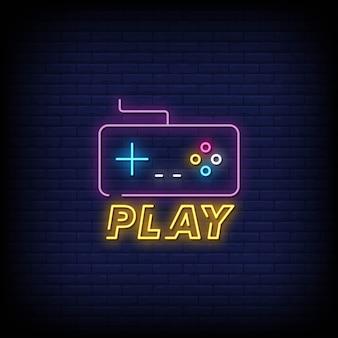 Zagraj w tekst w stylu neonów