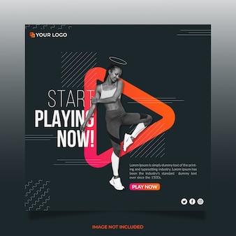 Zagraj w yoga social media banner