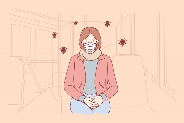Zagrożenie biologiczne, niebezpieczeństwo, infekcja, koronawirus, koncepcja ochrony.