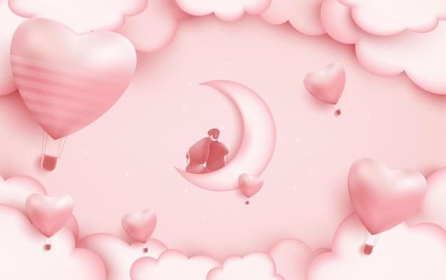 Zajęcia dla par w dniu miłości ilustracji
