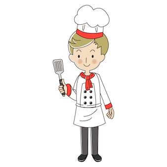 Zajęcie szefa kuchni człowieka