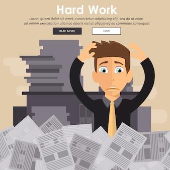 Zajęty osoba w koncepcji pracy