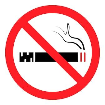 Zakaz palenia. przestań palić, znak. zabroniony symbol. symbol usługi hotelowej. ikona zakazu palenia wektor