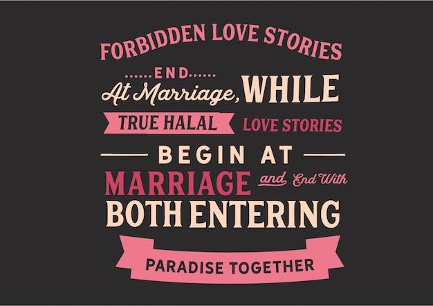 Zakazane historie miłosne kończą się na małżeństwie literowanie