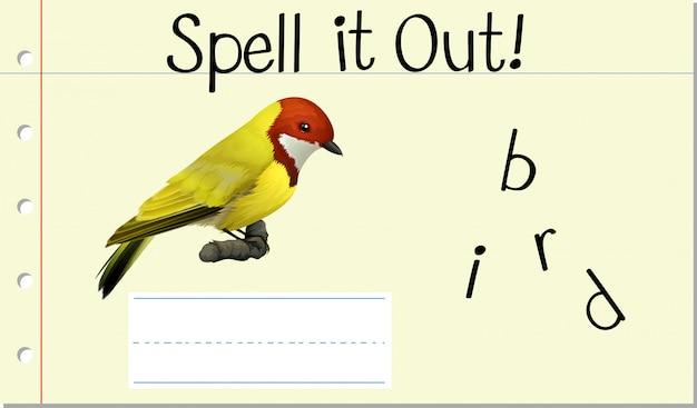Zaklęcie angielskie słowo ptak