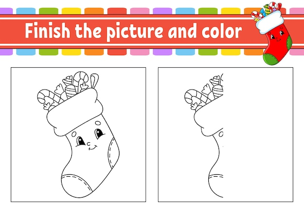 Zakończ rysunek i kolorową ilustrację