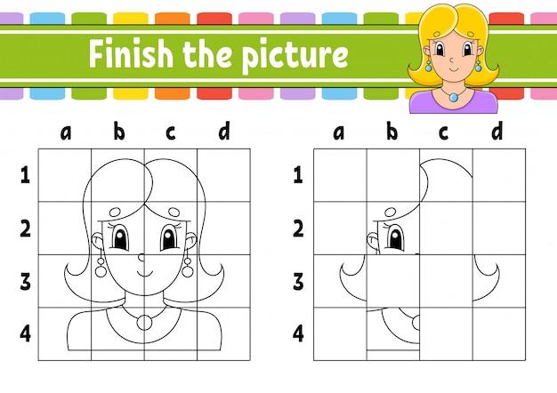 Zakończ zdjęcie. książka do kolorowania dla dzieci.