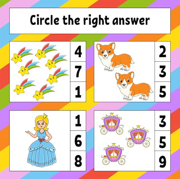 Zakreślić właściwą odpowiedź. arkusz rozwijający edukację. strona aktywności ze zdjęciami.