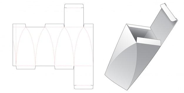 Zakrzywione boczne pudełko do pakowania wycinane szablonem