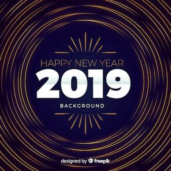 Zakrzywione linie nowego roku tło