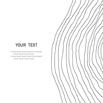 Zakrzywione linie rysowane ręcznie. abstrakcyjny nadruk. abstrakcjonistyczna geometryczna sztuka tło. minimalistyczna sztuka. druk skandynawski. ilustracja wektorowa
