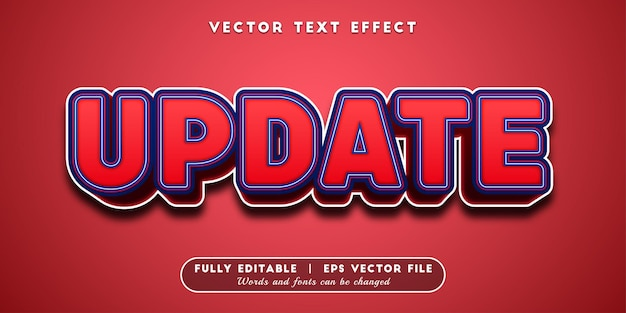Zaktualizuj efekt tekstowy, edytowalny styl tekstu