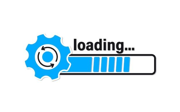 Zaktualizuj ikonę systemu. postęp paska ładowania. załaduj znak, uaktualnij, zaktualizuj, odśwież. ikona aktualizacji systemu. koncepcja ikony postępu aktualizacji aplikacji dla szablonu graficznego i internetowego, interfejsu użytkownika, strony internetowej, aplikacji mobilnej