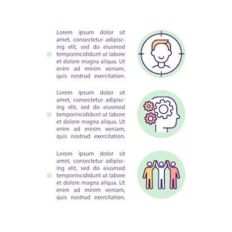 Zakup czynników decyzyjnych koncepcja linii ikon z tekstem