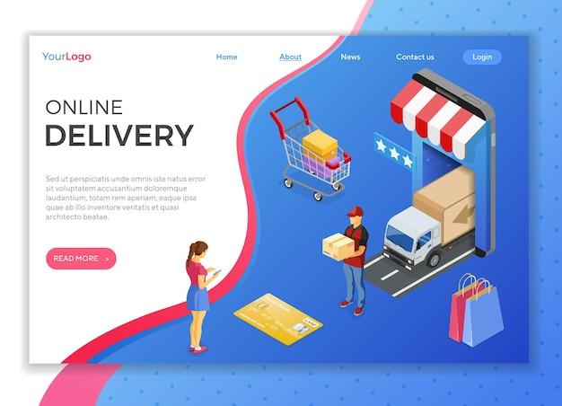 Zakupy i dostawa przez internet za pomocą smartfona
