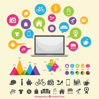 Zakupy infographic internecie
