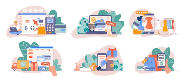 Zakupy mobilne z aplikacji na smartfony i płacenie online