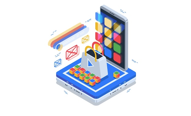 Zakupy online. aplikacja do płatności online i zamówienia dostawy produktów.