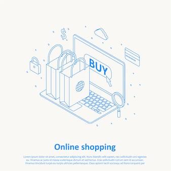 Zakupy online cienkiej linii projektowania eps 10