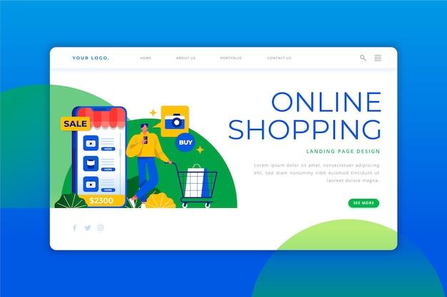 Zakupy online - landing page