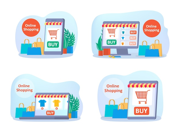 Zakupy online na stronie internetowej.