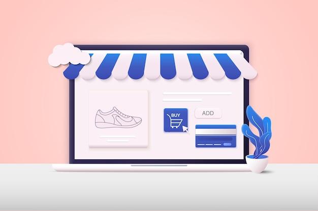 Zakupy online projektowanie elementów graficznych znaki symbole i marketing cyfrowy
