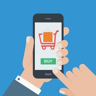Zakupy online w tle