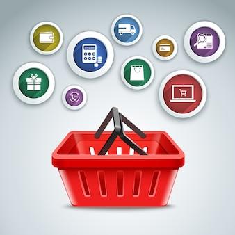 Zakupy online wzór tła
