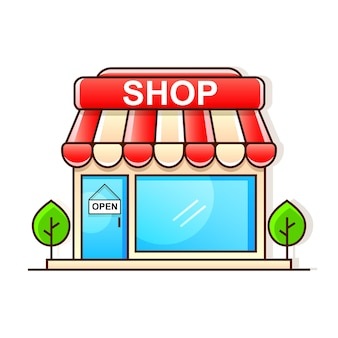 Zakupy w supermarkecie w formacie wektorowym eps-10 oddzielonym grupami i warstwami dla łatwej edycji
