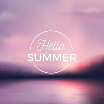 """Zamazane zdjęcie z wiadomością """"witaj lato"""""""