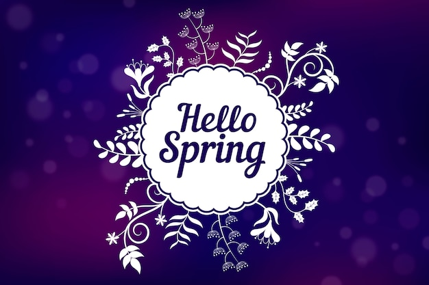 Zamazany wiosny tło z roślinami i kwiatami