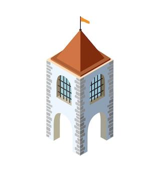 Zamek fortecy izometryczny