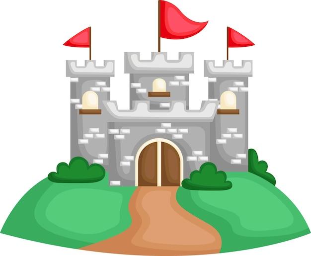Zamek na szczycie wzgórza
