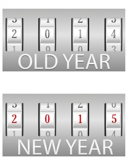 Zamek szyfrowy stary i nowy rok