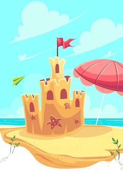 Zamek z piasku na plaży