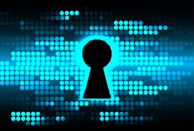 Zamknięta kłódka na cyfrowym tle, cyber bezpieczeństwo