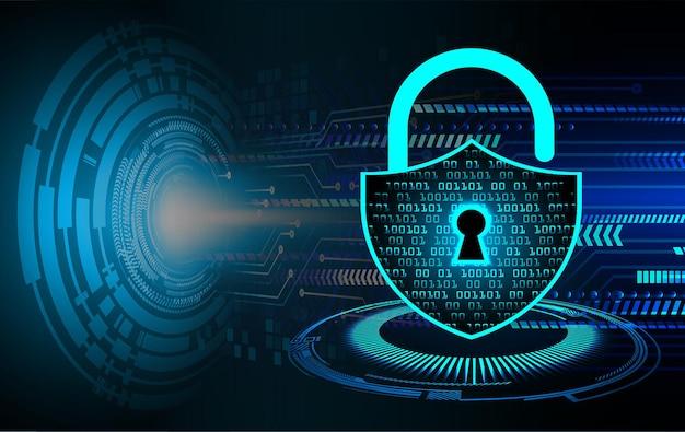 Zamknięta kłódka na cyfrowym tle cyberbezpieczeństwo