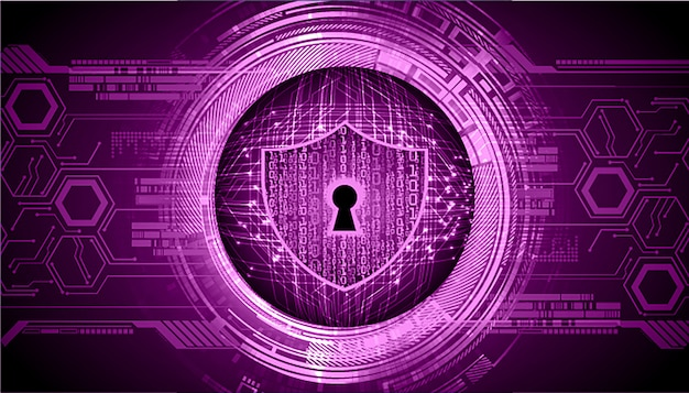 Zamknięta kłódka na cyfrowym tle