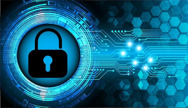 Zamknięta kłódka na tle cyfrowym, bezpieczeństwo cybernetyczne