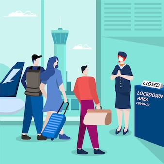 Zamknięte lotnisko z powodu pandemii