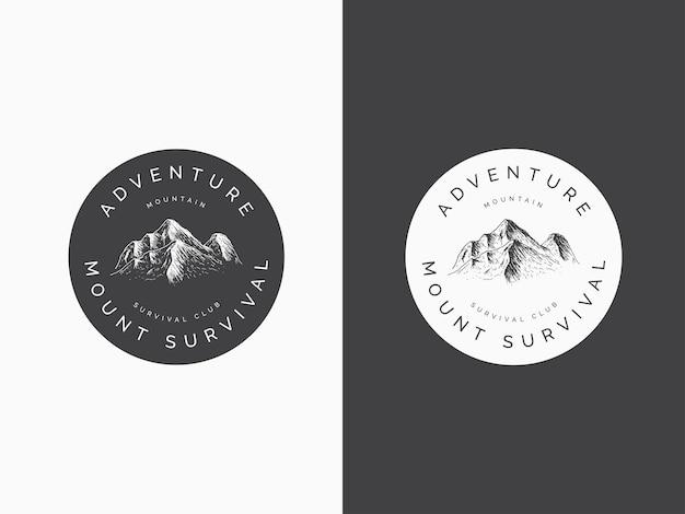 Zamontuj koncepcję projektowania logo przygody
