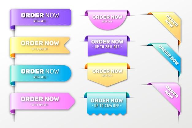 Zamów teraz - kolekcja etykiet