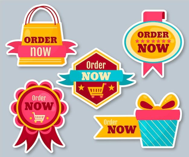 Zamów teraz - kolekcja naklejek